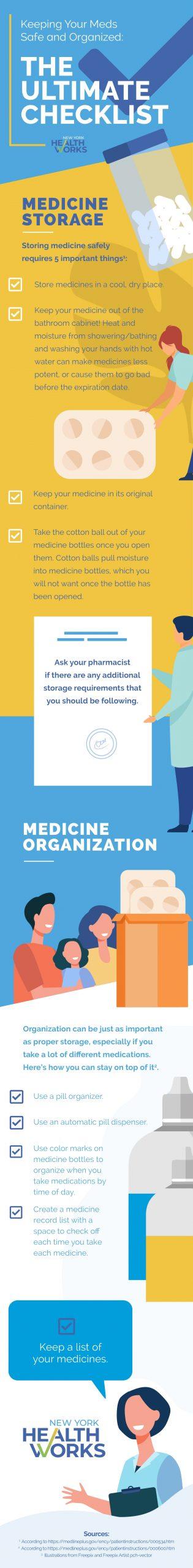 Keep Meds Safe Checklist infographic